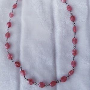 Jewelry - Strawberry quartz necklace